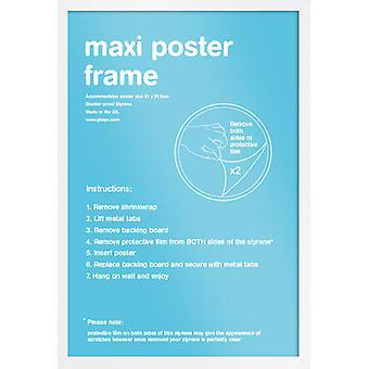 Eton marco blanco Maxi cartel / impresión marco