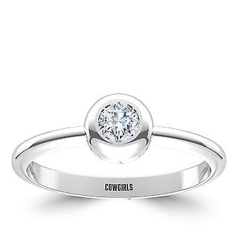 Oklahoma State University Engraved Diamond Ring