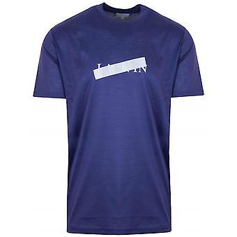 Lanvin Lanvin Indigo Blue Reflective Cross T-Shirt