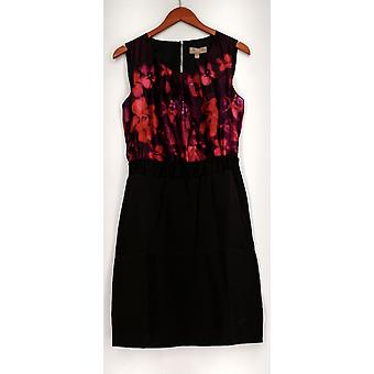 Kelly by Clinton Kelly Dress Cap Slv Floral Printed Dress Purple/ Red A218739