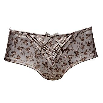 Parfait by Affinitas Bess Boyshorts Panties Cream & Coffee Womens