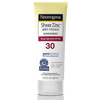 Neutrogena sheer zinc sunscreen lotion, spf 30, 3 oz