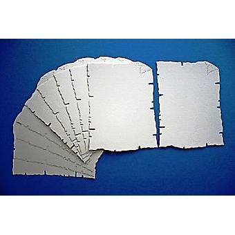 10 Cream Card Parchment Shapes for Kids Pirate Treasure Maps