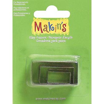Makin's Clay Cutters 3 Pkg Rectangle M360 4