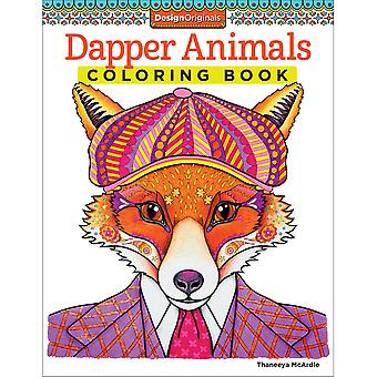 Design Originals Dapper Animals Coloring Book Fox 5493