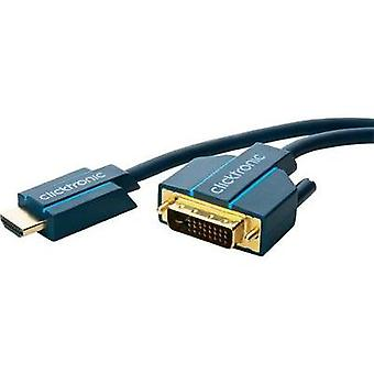 DVI / HDMI Cable [1x DVI plug 25-pin - 1x HDMI plug] 15 m Blue
