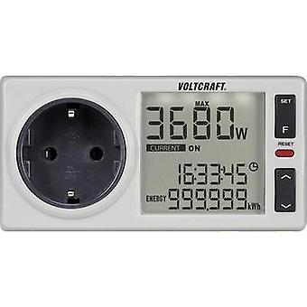 Energy consumption meter VOLTCRAFT 4500 PRO DE built-in child safety guard, Selectable energy tariffs, built-in battery
