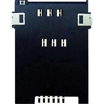 SIM Card connector No. of contacts: 6 Push, Push Yamaichi 1 pc(s)