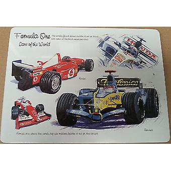 Formula One set of 4 cork backed table placemats  (lsn)