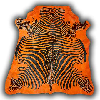 Rugs - Zeb-Tastic Zebra Rugs - Orange & Black