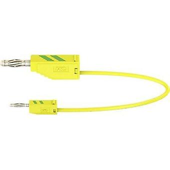 Test lead [ Banana jack 4 mm - Banana jack 2 mm] 0.15 m Green-yellow MultiContact AK205/410