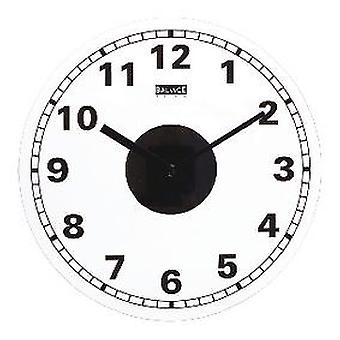 Balance Wall Clock 35 Cm Analogue White / Black (Home , Decoration , Clocks)
