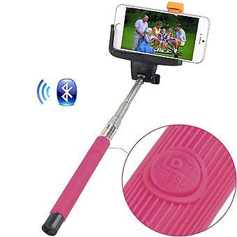 ONX3 (rose) HTC U Ultra universel Bluetooth Wireless Selfie Stick monopode déclencheur à distance intégré format de poche