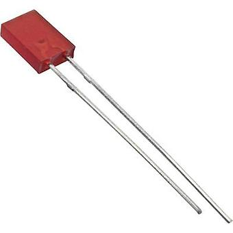LED wired Red Rectangular 2 x 5 mm 4 mcd 100 ° 30 mA 2 V Everlight Opto