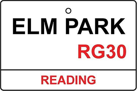 Reading / Elm Park Street Sign Car Air Freshener