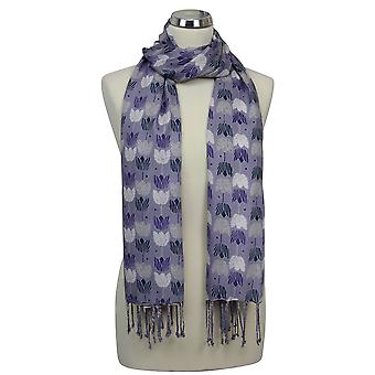 Peony Scarf - Tulip - Heather/Purple