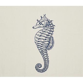 Seahorse Küsten bedruckter Baumwolle Küche Teller blau Handtuch-28 Zoll