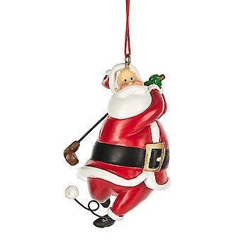 Santa golfspiller juleferien Ornament 3 Inches