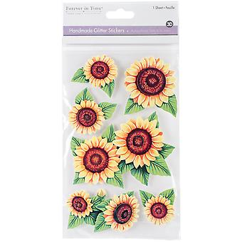 MultiCraft Handmade Glitter 3D Stickers-Sunflowers SS859-D