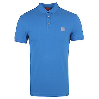 BOSS Orange Pavlik Royal Blue Short Sleeve Pique Polo Shirt