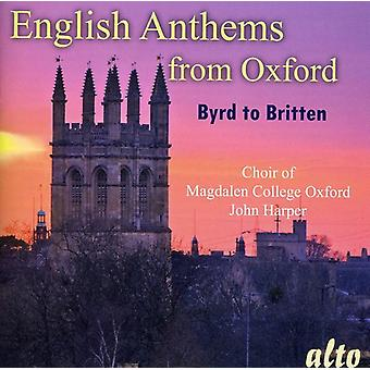 Magdalen College Choir From Oxford - English Anthems From Oxford: Byrd to Britten [CD] USA import