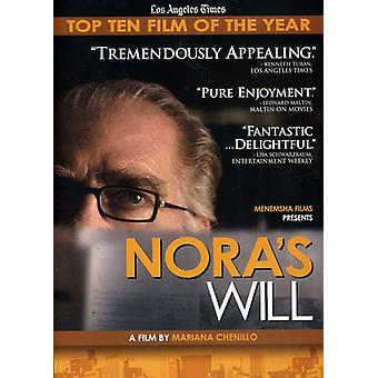 Nora's Will [DVD] USA import
