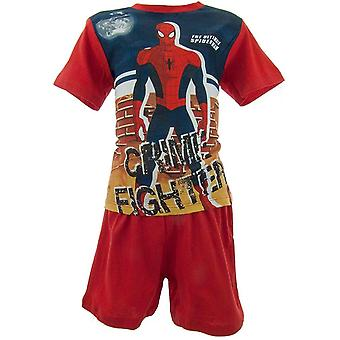 Boys Marvel Spiderman Shortie Pyjamas OE2004