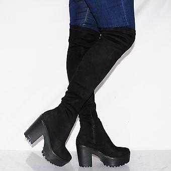 Koi Couture Ladies Dh3 Black Over The Knee Boots