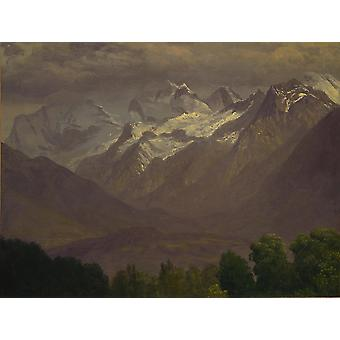 Albert Bierstadt - In the High Mountains Poster Print Giclee