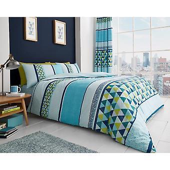 Madison Geo tryckta moderna Duvet Cover sängkläder Quilt ställa alla storlekar