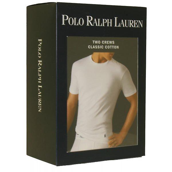Polo Ralph Lauren 2-Pack klassiske bomull Crew hals t-skjorter, hvite