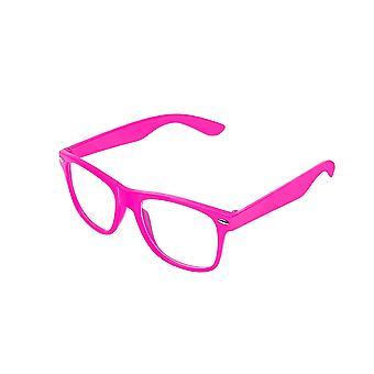 Retro Vintage färg Unisex Punk Geek klassisk stil noll antal klarglas glasögon Eyewear