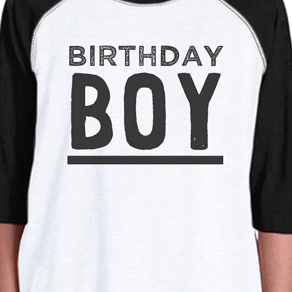 Baby Boy Baseball Tee For Boys Birthday Gift 3 4 Black Sleeve