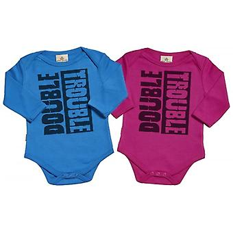 Spoilt Rotten Double Trouble & Babygrow Twins Set