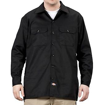 Dickies - Long Sleeve Work Shirt - Black Dickies574 Classic Mens Work Shirt
