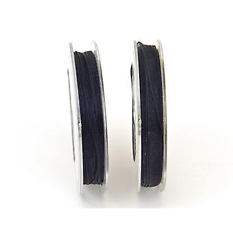 SALE - 3mm Organza Craft Ribbon - 10m Reel - Dark Blue