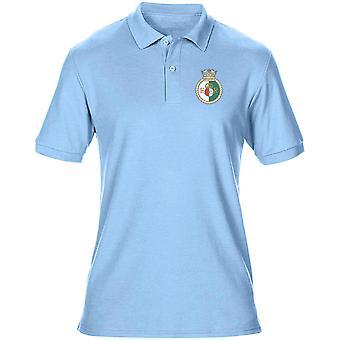 HMS Queen Elizabeth Embroidered logo - Official Royal Navy Mens Polo Shirt