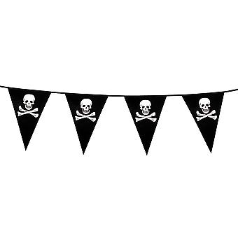 Halloween 6 Meter Pirate/ Skull & Cross Bone Bunting Party Decoration Accessory