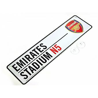 Arsenal FC Official Football 3D Embossed Metal Hanging Street Sign