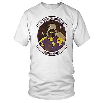 USAF 23rd Space Operations Grunge Effect Mens T Shirt