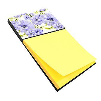 Carolines schatten BB7491SN aquarel blauwe bloemen notitie houder
