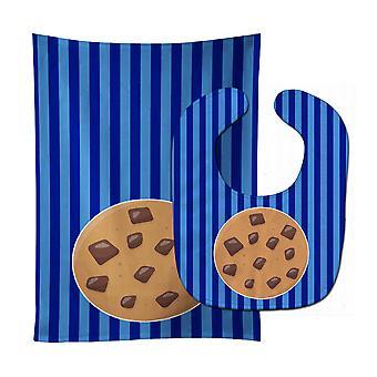 Carolines Treasures  BB6820STBU Cookie Monster Baby Bib & Burp Cloth
