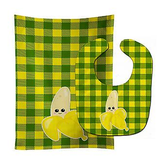 Carolines Treasures  BB6889STBU Going Bananas Baby Bib & Burp Cloth