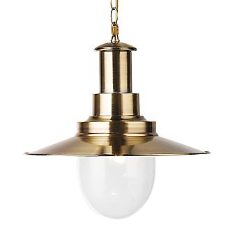 Searchlight 5301AB Large Fisherman Pendant Light in  Antique Brass
