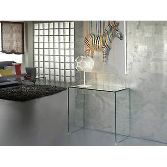 Wellindal Glass Clear Console Table (Furniture , Living Room , Consoles)