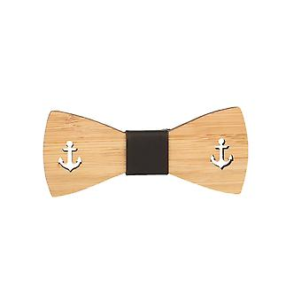 Snobbop fly Woody anchor bamboo wood bow tie hook closure