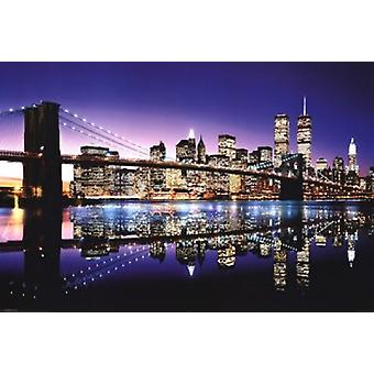 Brooklyn Bridge - Color Poster Poster Print