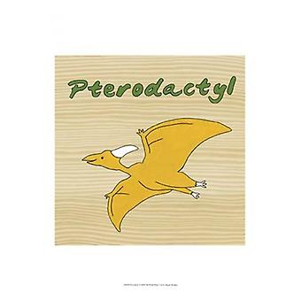 Pterodactyl Poster Print by Megan Meagher (13 x 19)