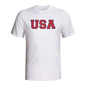 Usa Pays Iso T-shirt (blanc)