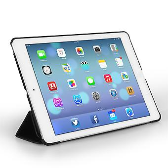 Ipad Air Leather-Effect Stand Cover Case - Black